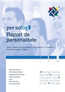Coperta Raport Personalitate Complet